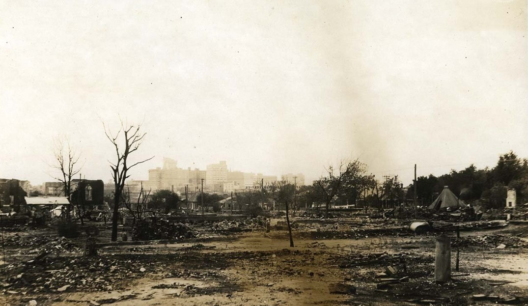 Greenwood in Tulsa after the 1921 bombing